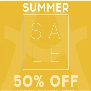50% OFF SALE - items marked ENDS AUGUST 14
